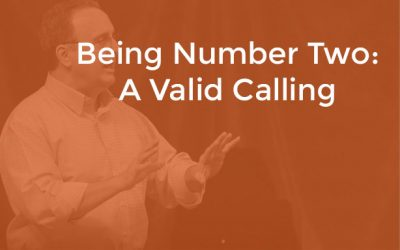 EP 010 – Being Number Two: A Valid Calling